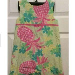 Lilly Pulitzer Dress Girls' 4 Yellow Blue Pink